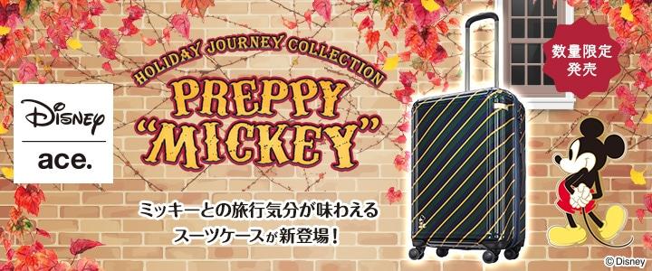 キャンピングミッキースーツケース