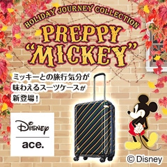 """Disney プレッピー""""ミッキー""""スーツケース"""
