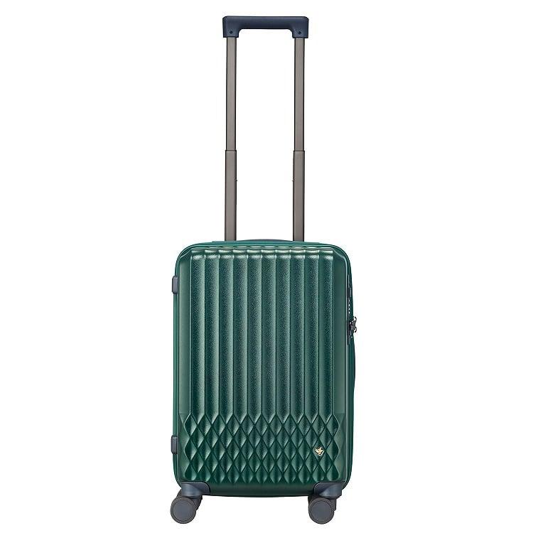 ≪HaNT/ハント≫ソロ スーツケース 32リットル 機内持込み対応サイズ 深みのあるシースルーボディのスーツケース キャスターストッパー搭載 1~2泊の旅行に 06551