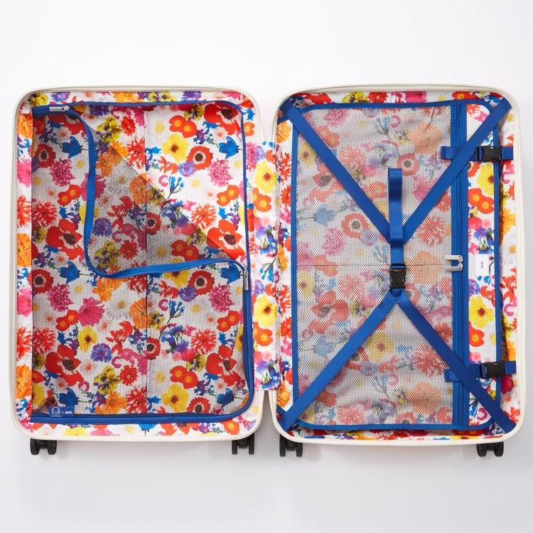 ≪ M / mika ninagawa≫ スーツケース 限定 ace.リップルz MN LTD ジッパータイプ 93リットル キャスターストッパー/ワイヤー式ロック搭載 1週間~10日程度の旅行に  06568