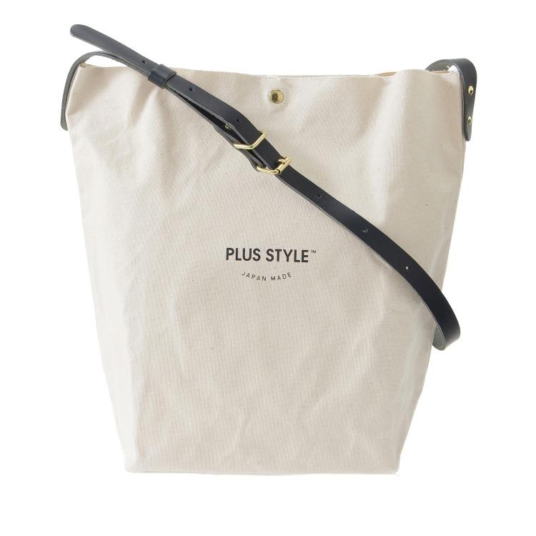 ≪PLUS STYLE/プラススタイル≫ バケットトート ショルダーバッグ A4サイズ対応 14317