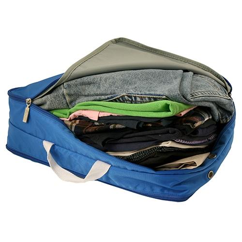 ≪F1 SPACEPAK Clothes ブルー≫ パッキングバッグ 衣類ケース / 50122-15