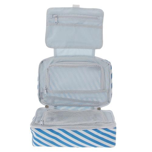 ≪F1 SPACEPAK Toiletry STRIPE≫ パッキングバッグ 洗面用品ケース ブルー  / 50234-15
