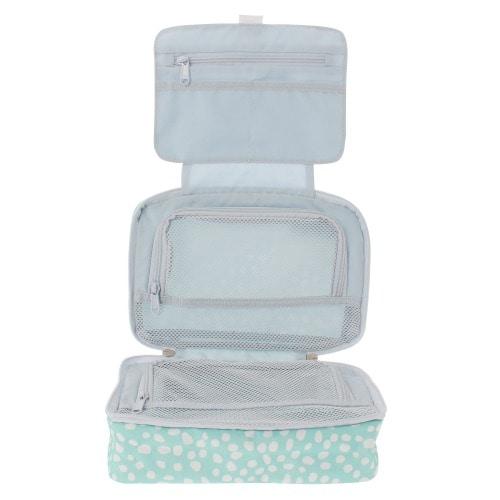 ≪F1 SPACEPAK Toiletry DOTS≫ パッキングバッグ 洗面用品ケース ミント  / 50235-04