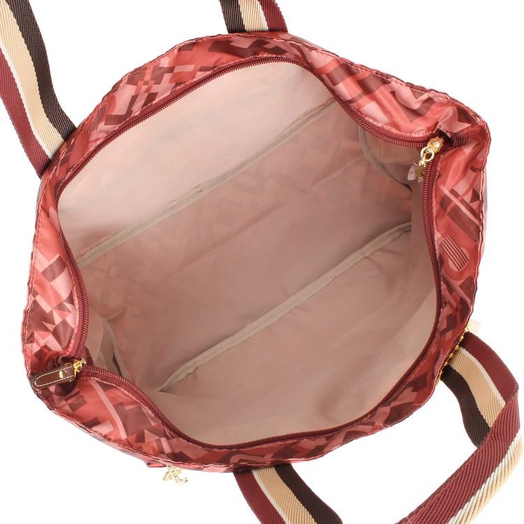 ≪カナナプロジェクトコレクション≫ストライプフォールド☆普段に旅行に便利♪折りたたみトートバッグ小  55731