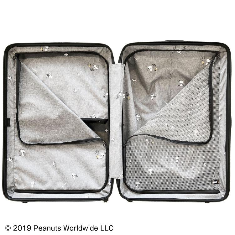 ≪Proteca/プロテカ≫ ポケットライナー ピーナッツエディション スーツケース ジッパータイプ 88リットル 便利で使いやすいフロントオープンポケット 1週間~10泊程度の旅行に 01933