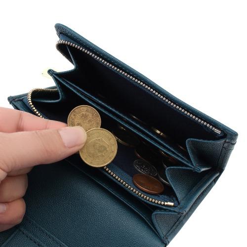 ≪Blanc Casse くるりんチャック≫ 二つ折り財布 14581