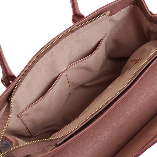 ≪JEWELNA ROSE/ジュエルナローズ≫ レオニ・ハンドバッグ ショルダーベルト付き A4対応サイズ 33817