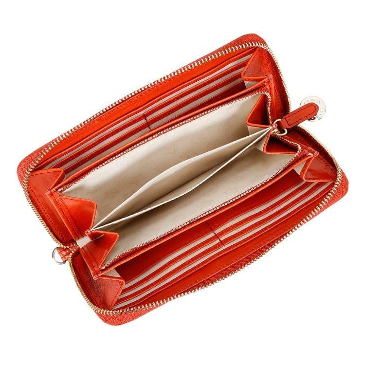 ≪カナナプロジェクト≫グロッシー シリーズ  長財布 ストラップ付で落としにくい ランチタイムのOLさんにおすすめのお財布 34933