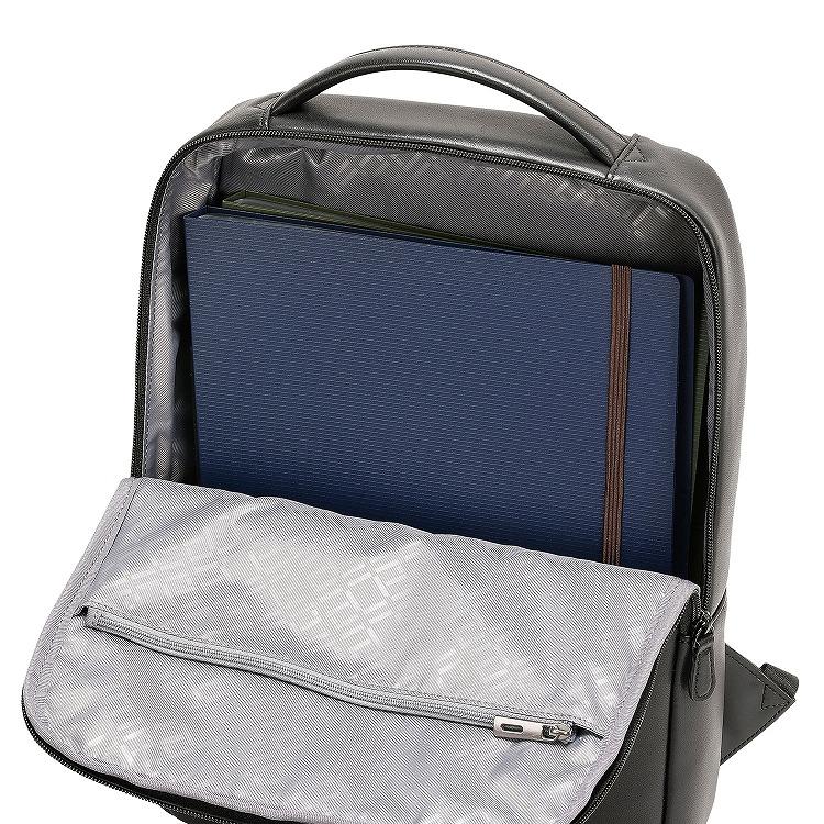 ≪ace./エース≫ ペルライト2 バックパック レザー A4ファイル収納 薄マチの軽量レザービジネスリュック 38133