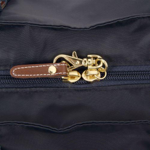 ≪カナナプロジェクト コレクション≫ストライプフォールド☆普段に旅行に便利♪折りたたみトートバッグ小 54911