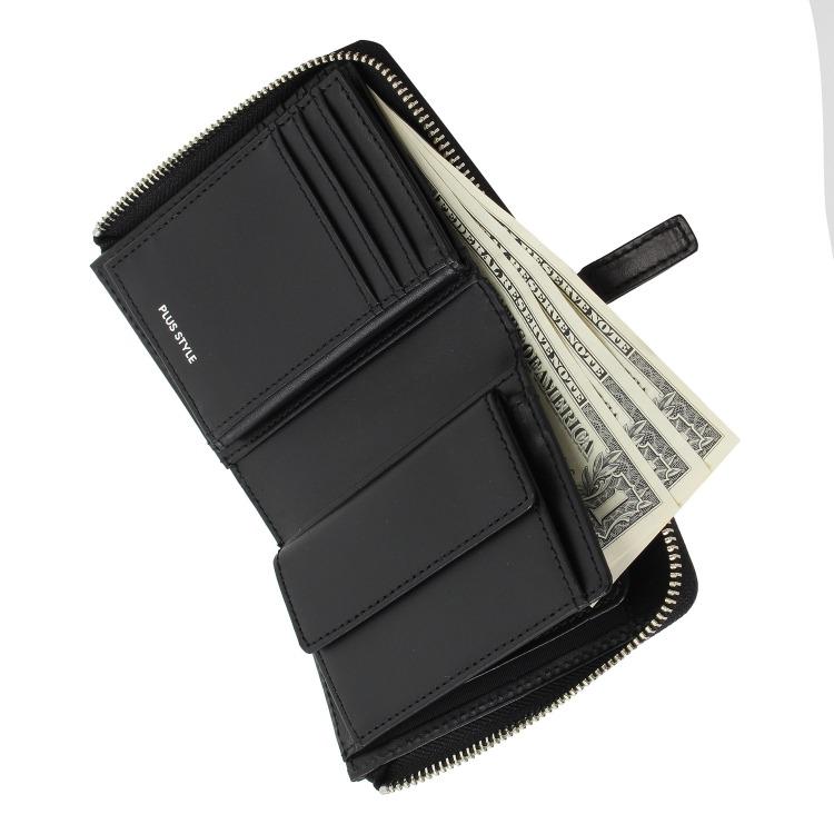 ≪PLUS STYLE/プラススタイル≫クロムエクセルⅡ L字ファスナー二つ折り財布 カード収納豊富 14497