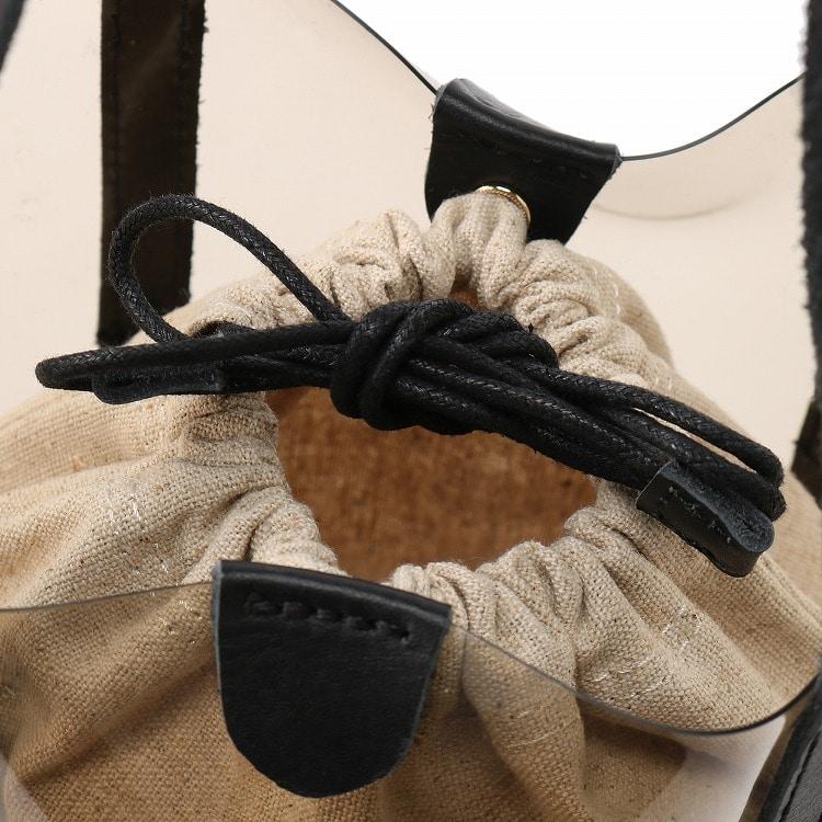 ≪JEWELNA ROSE ジュエルナローズ≫ライナス トートバッグ ミディアムサイズ 32717 レディース 巾着ポーチ付き クリアバッグ