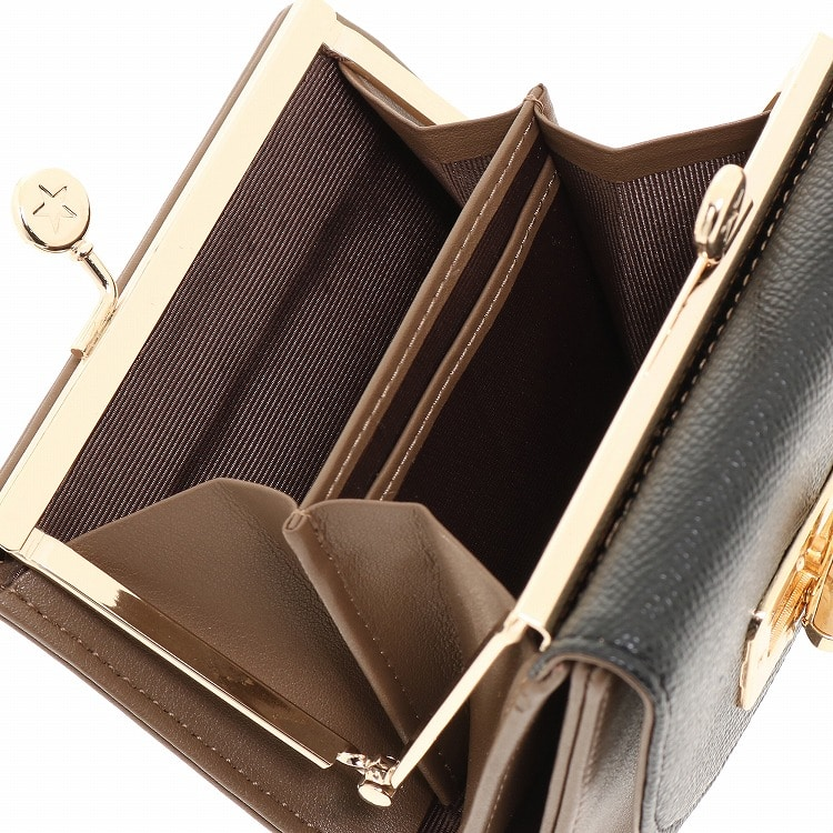 ≪JEWELNA ROSE ジュエルナローズ≫カーヴィー 二つ折りがま口財布 32721 レディース ウォレット ミニ財布
