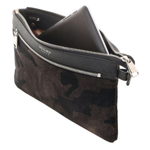 ≪ultima TOKYO/ウルティマ トーキョー≫3way スマートバッグF◇セカンドバッグ、ショルダーバッグ、バッグinバッグの3通り マチ無しタイプ (ナイロン×レザー素材)  77761