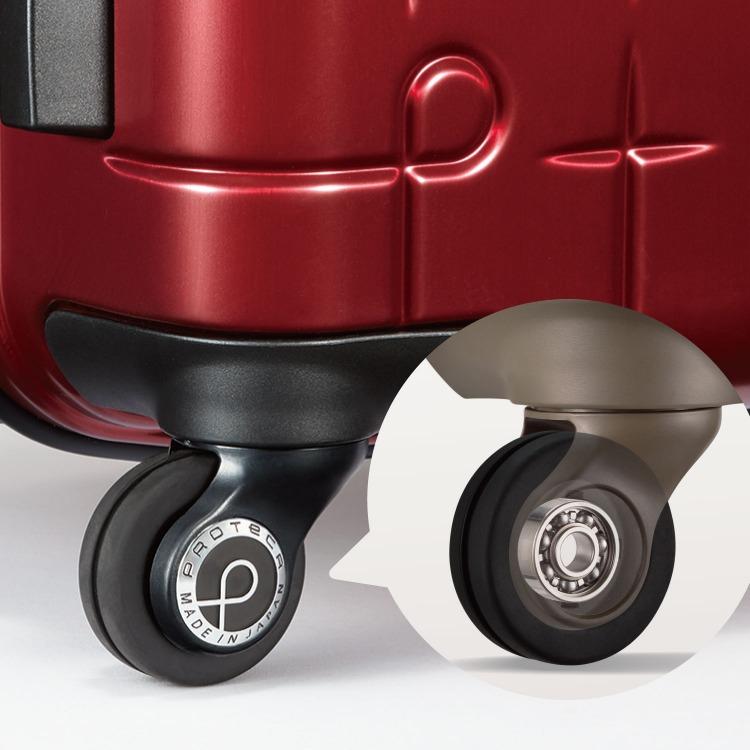 ≪Proteca/プロテカ≫ 360T メタリック スーツケース 360°オープン ジッパータイプ 45リットル 3泊程度の近場の海外旅行に   02932