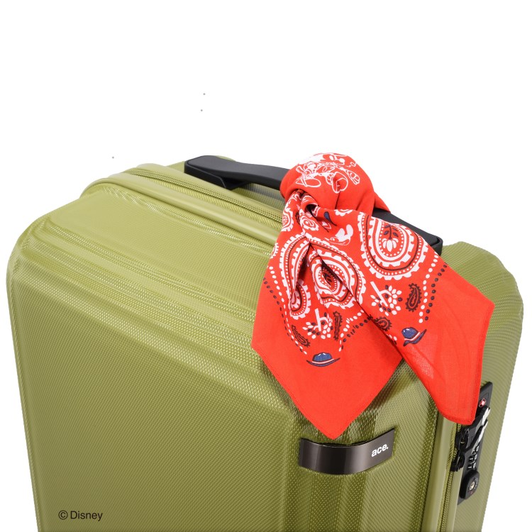 """≪ace.≫ 限定★Disney キャンピング""""ミッキー""""スーツケース  32リットル☆機内持込サイズ☆2泊程度のご旅行向きスーツケース 06107"""