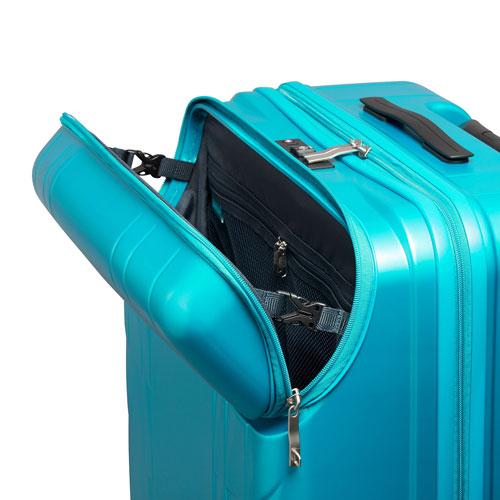 ≪ワールドトラベラー/レダン≫ 大容量・預け入れ手荷物対応サイズ フロントポケット付 ジッパータイプスーツケース 10泊以上の旅行に 100リットル  06162