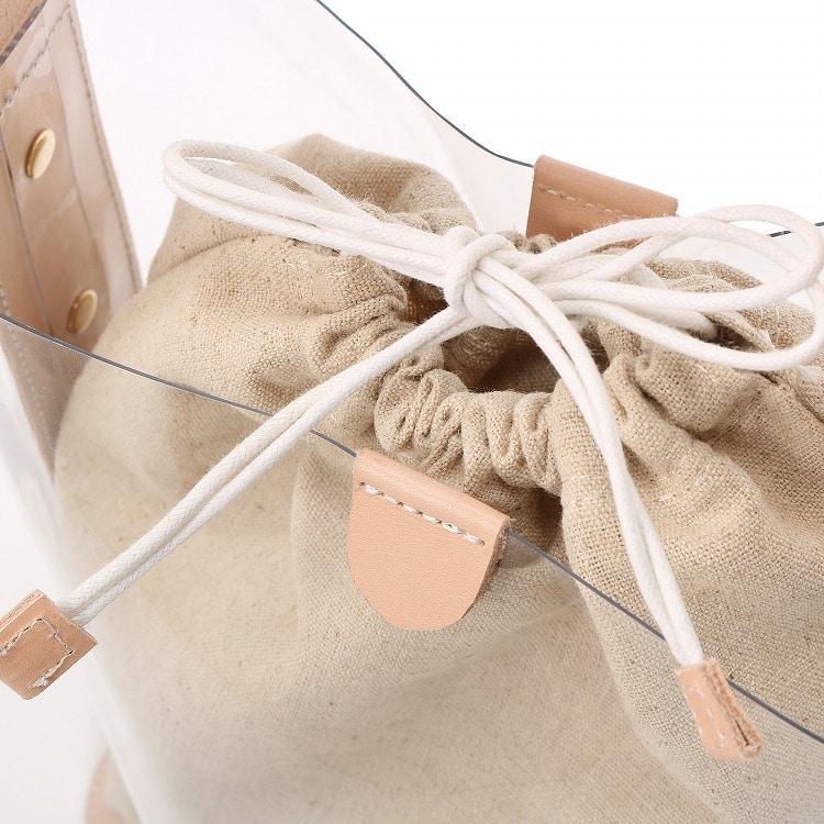 ≪JEWELNA ROSE ジュエルナローズ≫ライナス ワンハンドルトートバッグ ミディアムサイズ 32716 レディース 巾着バッグ クリアバッグ