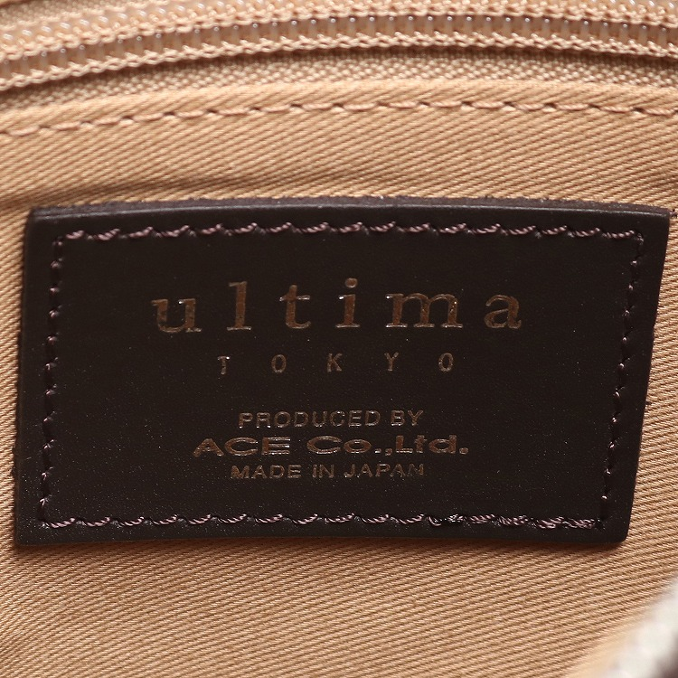 ≪ultima TOKYO/ウルティマ トーキョー≫ リーバス ショルダーバッグ シャープなカッティングで洗練されたスタイリッシュレザーバッグ 78051