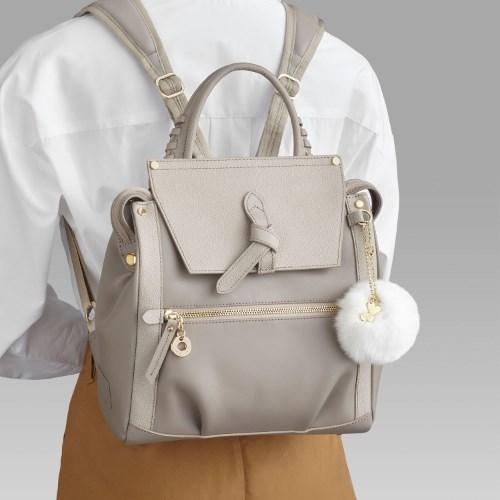≪Kanana project/カナナプロジェクト≫CLプレミアムレザー3☆ハンドバッグ代わりに持ちたい小ぶりサイズが上品!リュックサック 31721