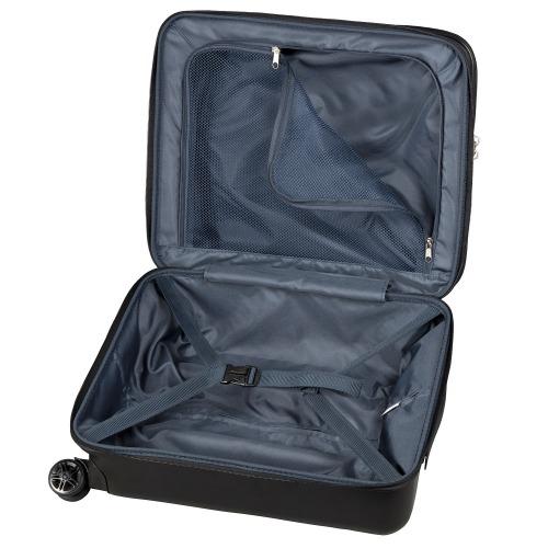 ≪ワールドトラベラー/レダン≫ 機内持込サイズ フロントポケット付 ジッパータイプスーツケース 2~3泊程度の旅行に 38リットル  06161