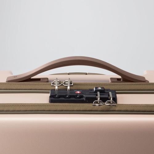 ≪ace. BC リンクワン≫ 女性が使いやすいビジネス用スーツケース 67リットル フロントポケット/荷物を取り付けられるVバインディングシステム 06262