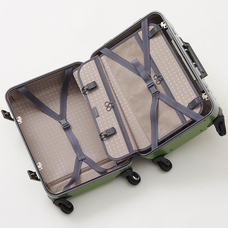 ≪Proteca/プロテカ≫ ブリックロック スーツケース 機内持ち込み対応 フレームタイプ 33リットル キャスターストッパー付き/ワンタッチオープン 1~2泊の旅行に 00931
