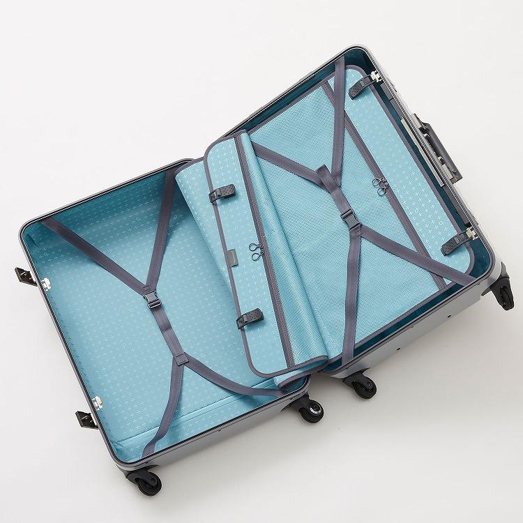 ≪Proteca/プロテカ≫ ブリックロック スーツケース フレームタイプ 65リットル キャスターストッパー付き/ワンタッチオープン 4~5泊程度の旅行に 00932