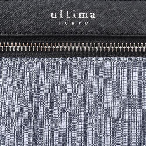 ≪ultima TOKYO/ウルティマ トーキョー≫3way スマートバッグFW ◇限定・和柄◇セカンドバッグ、ショルダーバッグ、バッグinバッグの3通り マチ無しタイプ (コットン×レザー素材)  77841