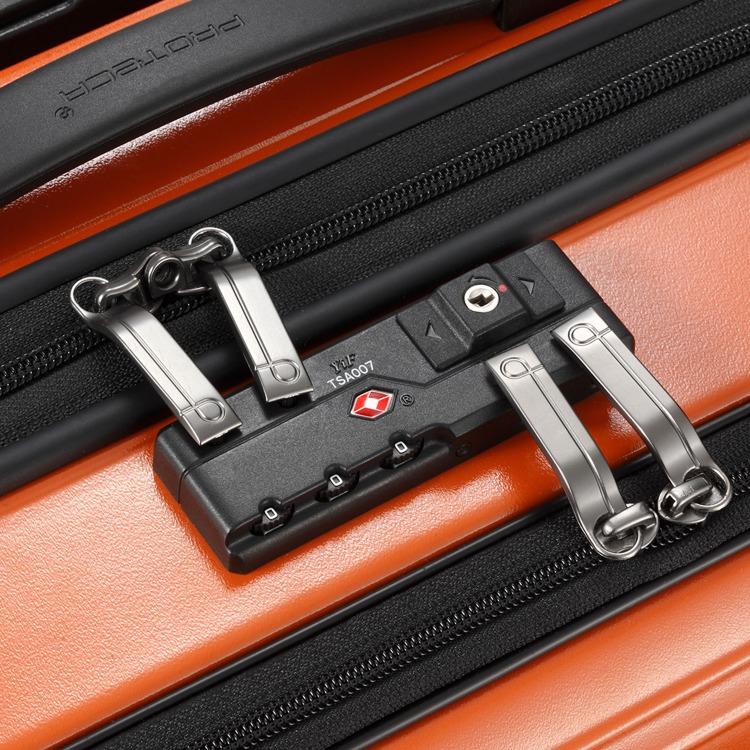 ≪Proteca/プロテカ≫ ポケットライナー スーツケース ジッパータイプ 72リットル 便利で使いやすいフロントオープンポケット 1週間程度の旅行に 01832