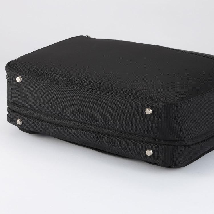 ≪ace./エース≫ EVL-3.5 HRB 3WAY ブリーフケース 【限定 へリンボーン・ネイビー】 拡張時 18リットル 2気室/A4/PC・タブレット収納 背負えるビジネスバッグ 62256