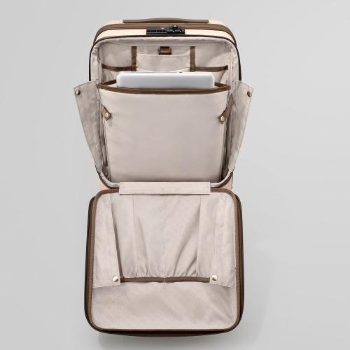 ≪ace. BC リンクワン≫ 女性が使いやすいビジネス用スーツケース 34リットル フロントポケット/荷物を取り付けられるVバインディングシステム 機内持込対応サイズ 06261