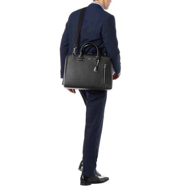 ≪ultima TOKYO/ウルティマ トーキョー≫ リーバス ブリーフケース シャープなカッティングで洗練されたスタイリッシュレザービジネスバッグ 1気室/A4ファイル対応 78054