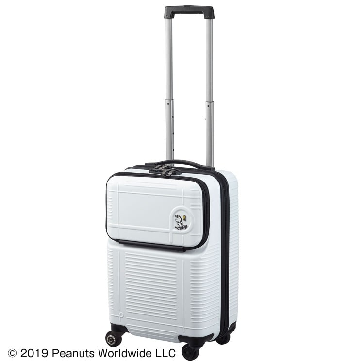 ≪Proteca/プロテカ≫ ポケットライナー ピーナッツエディション スーツケース ジッパータイプ 35リットル 機内持ち込み対応サイズ 便利で使いやすいフロントオープンポケット 2~3泊程度の旅行に 01931