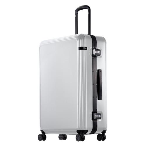 ≪ace. リップルF≫ 外周に沿ったリブが上品なスーツケース♪ 1週間~10泊程度の旅行に。キャスターストッパー機能付き 87リットル  05554