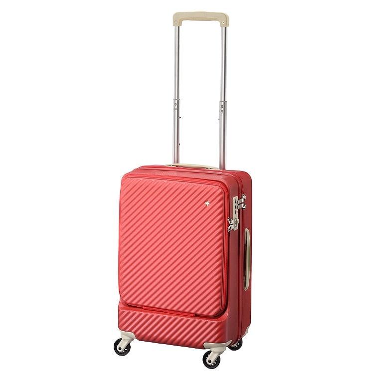 ≪HaNT/ハント≫マイン スーツケース 34リットル 便利なフロントポケット付き 1-2泊用 機内持込み対応サイズ 05744