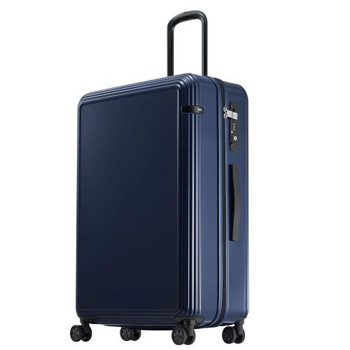 ≪ace. リップルZ≫ ジッパータイプ スーツケース 93リットル キャスターストッパー/ワイヤー式ロック搭載 1週間~10日程度の旅行に  06243