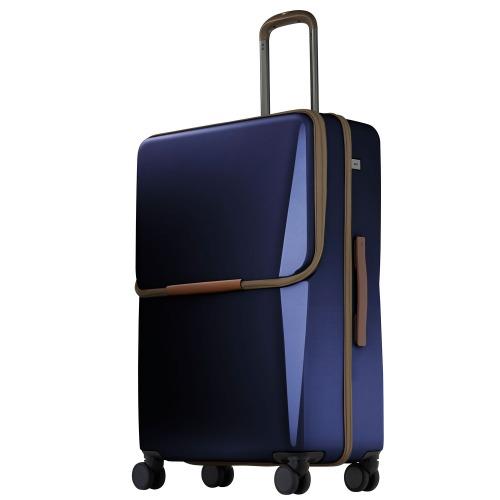 ≪ace. BC リンクワン≫ 女性が使いやすいビジネス用スーツケース 90リットル フロントポケット/荷物を取り付けられるVバインディングシステム 06263