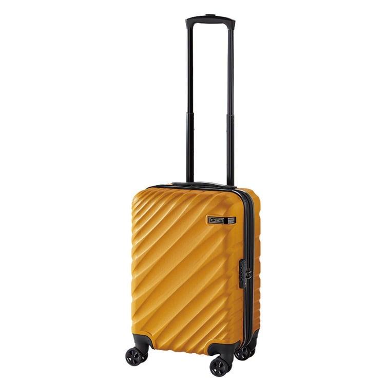 ≪ACE DESIGNED BY ACE IN JAPAN≫ オーバル スーツケース ジッパータイプ 機内持ち込み対応サイズ 拡張機能付き 36→拡張時43リットル 2~3泊の旅行に 06421