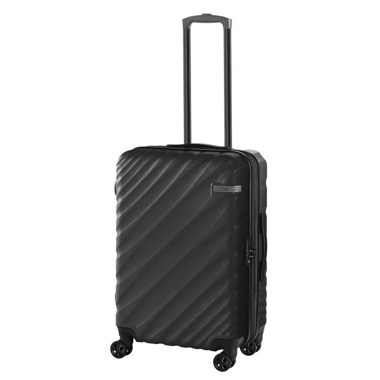 ≪ACE DESIGNED BY ACE IN JAPAN≫ オーバル スーツケース ジッパータイプ 拡張機能付き 57→拡張時70リットル 5~6泊の旅行に 06422