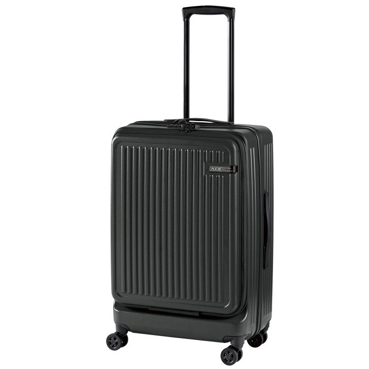 ≪ACE DESIGNED BY ACE IN JAPAN≫ ジョリー スーツケース 67リットル ジッパータイプ フロントポケット付き/15.6インチPC収納 5泊~1週間程度の旅行に 06427