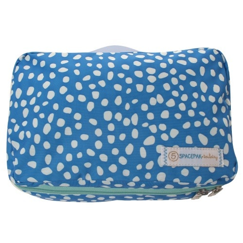 ≪F1 SPACEPAK Toiletry DOTS≫ パッキングバッグ 洗面用品ケース ブルー  / 50235-15