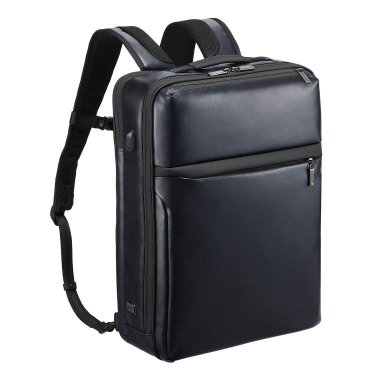 ≪ace./エース≫ ガジェタブル WR USBポート搭載 バックパック 15リットル B4ファイル/15インチPC対応 耐水性に優れたウォーターレジストタイプ 55547
