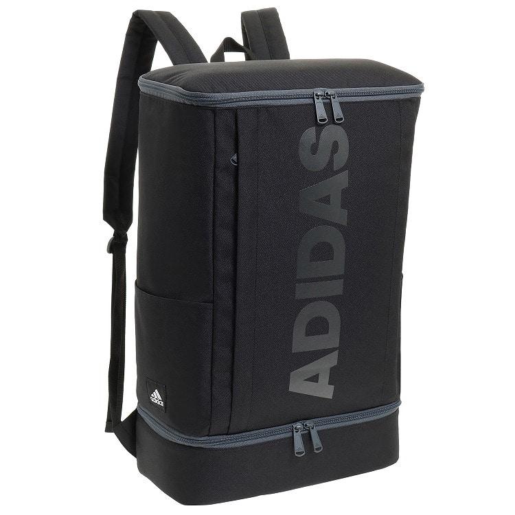 ≪adidas/アディダス≫ バックパック/リュックサック 27リットル 通学用、部活にオススメ!B4サイズ収納、容量たっぷりのボックスタイプリュックサック 55855