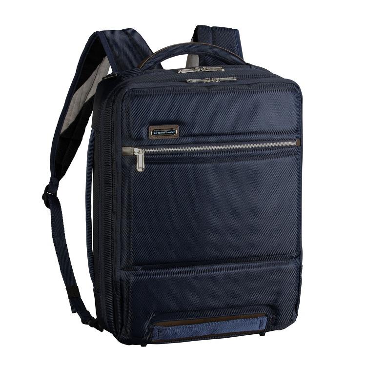 ≪World Traveler/ワールドトラベラー≫ テルス リュックサック 3WAYタイプ 毎日の通勤に B4サイズ/15インチPC対応ビジネスリュック 57063