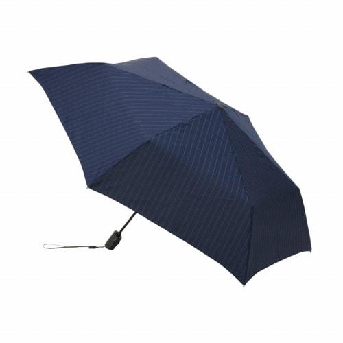 Knirps 折り畳み傘/ Flat Duomatic ピンストライプネイビー / 75316-03
