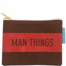 ≪Man Things≫ キャンバスポーチ ブラウン / 50164-08