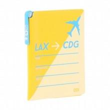 ≪AIRPORT PORTFOLIO PASSPORT COVER≫ パスポートカバー パスポートホルダー イエロー / 50272-13