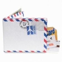 ≪mighty wallet≫ 財布 2つ折り札入れ エアメール / 75341-01